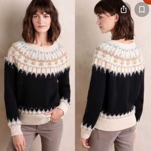 Anthropologie sleeping on snow beaded sweater 4325